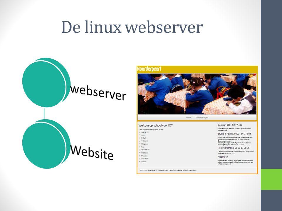 De linux webserver