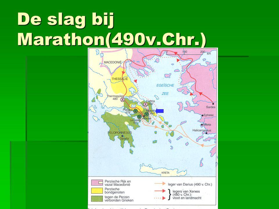De slag bij Marathon(490v.Chr.)