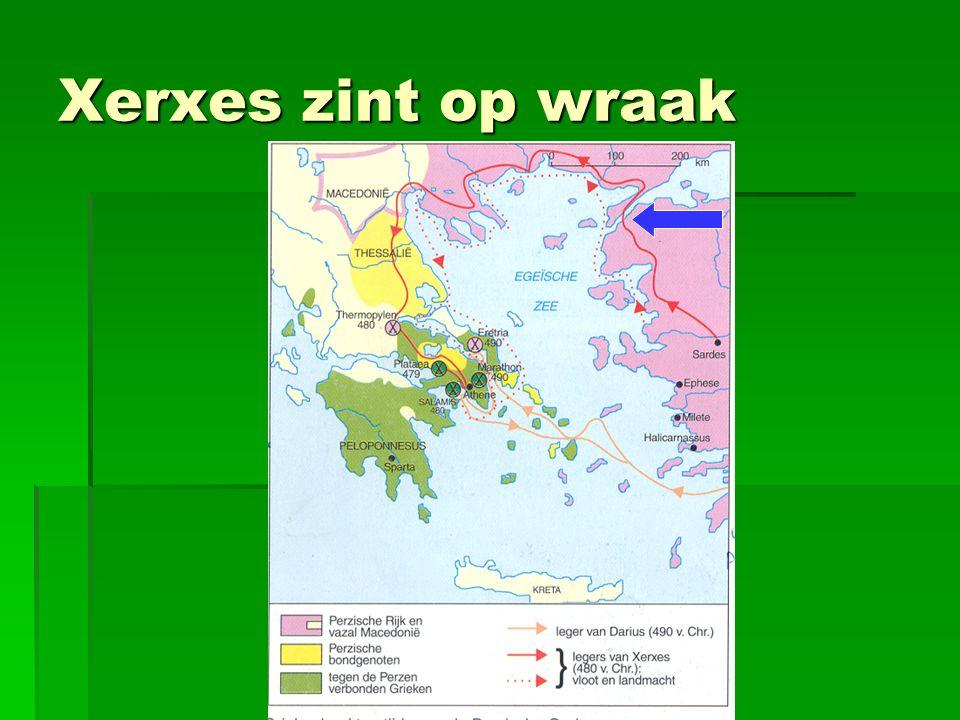 Xerxes zint op wraak