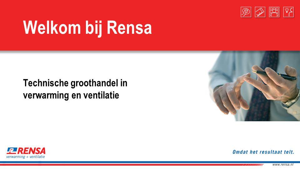 Welkom bij Rensa Technische groothandel in verwarming en ventilatie