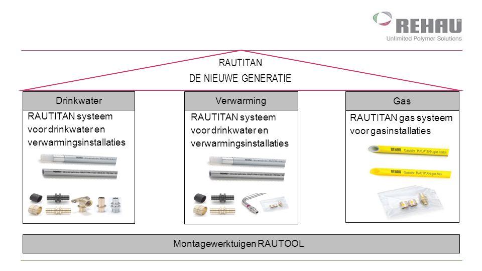 Verwarming RAUTITAN systeem voor drinkwater en verwarmingsinstallaties RAUTITAN DE NIEUWE GENERATIE Montagewerktuigen RAUTOOL RAUTITAN systeem voor dr
