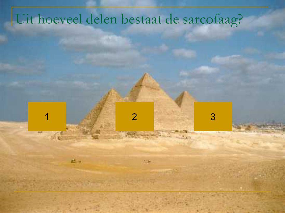 Uit hoeveel delen bestaat de sarcofaag? 132