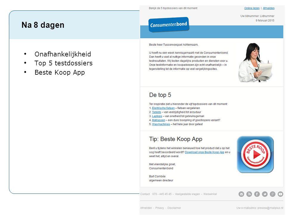 Pag. 18 Na 8 dagen Onafhankelijkheid Top 5 testdossiers Beste Koop App
