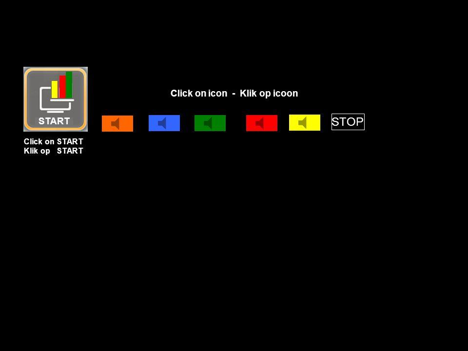 START STOP Click on START Klik op START Click on icon - Klik op icoon