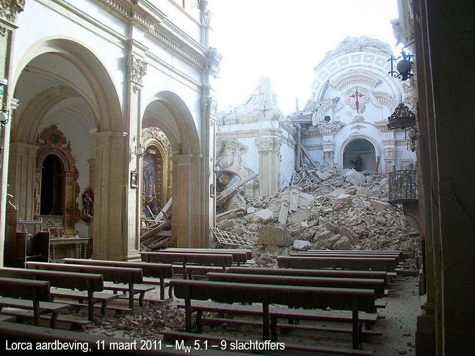 Lorca aardbeving, 11 maart 2011 – M W 5.1 – 9 slachtoffers
