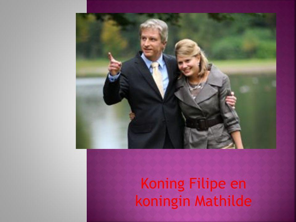 Koning Filipe en koningin Mathilde