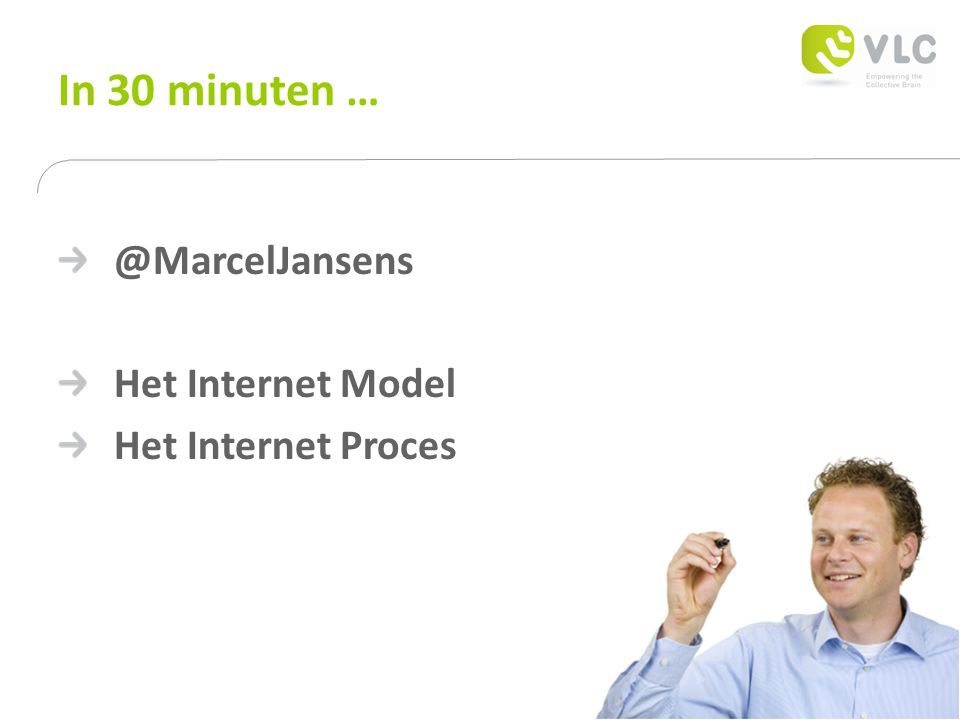 In 30 minuten … @MarcelJansens Het Internet Model Het Internet Proces