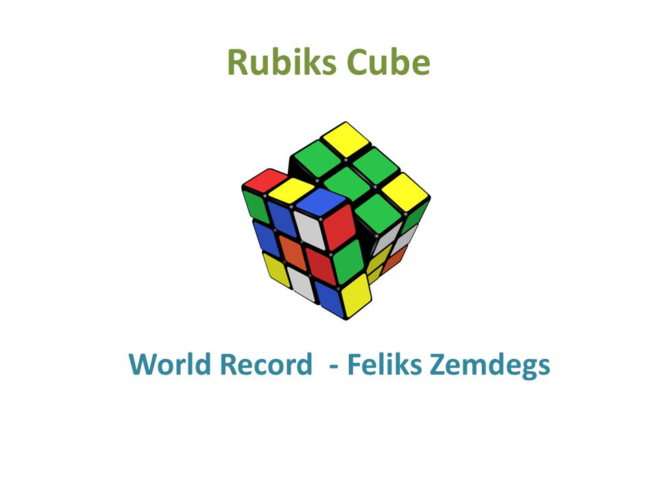 Opdracht: How much time does Felix need to solve the Rubiks cube.