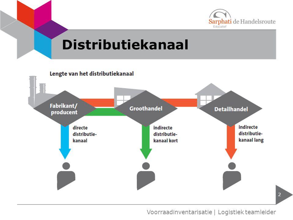Distributiekanaal 2 Voorraadinventarisatie | Logistiek teamleider