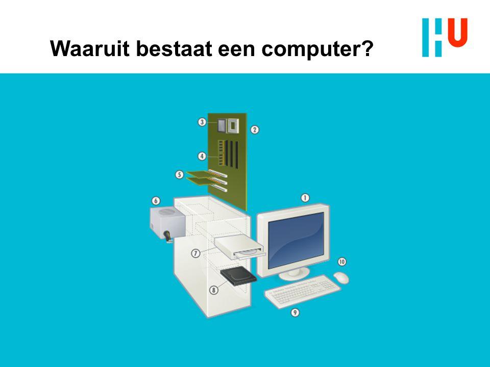 Waaruit bestaat een computer?