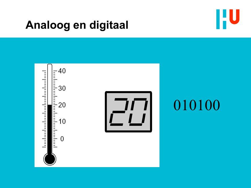 010100 Analoog en digitaal