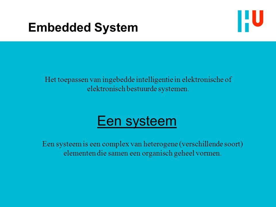 Het toepassen van ingebedde intelligentie in elektronische of elektronisch bestuurde systemen.