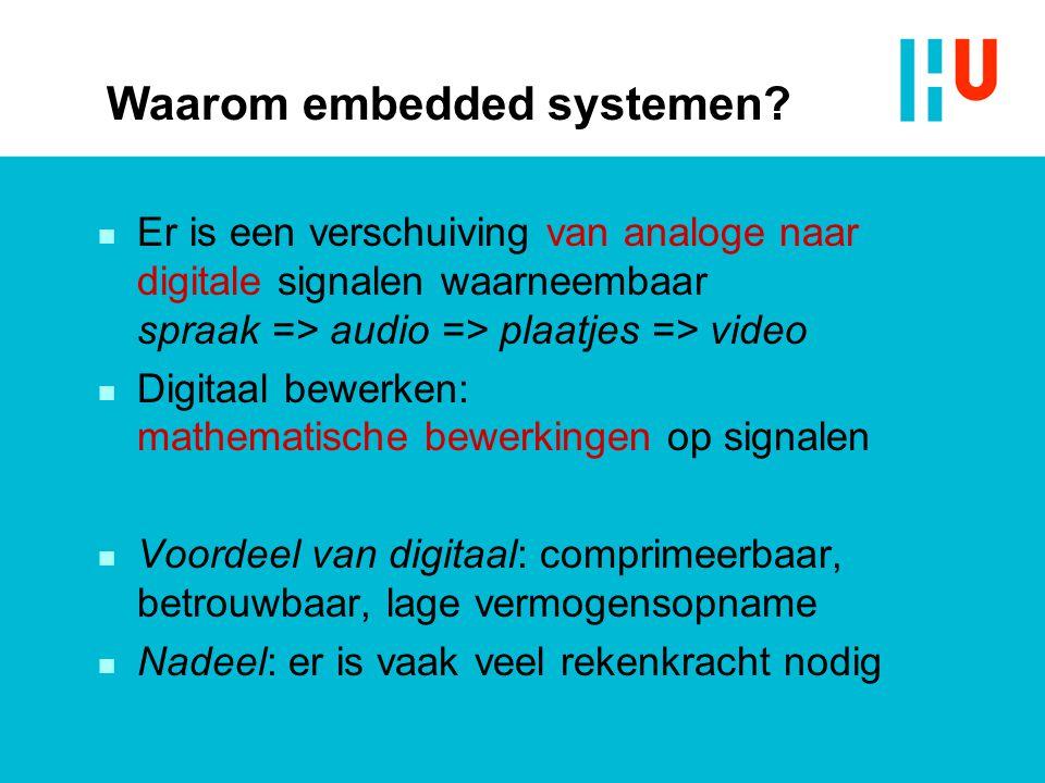 Waarom embedded systemen.