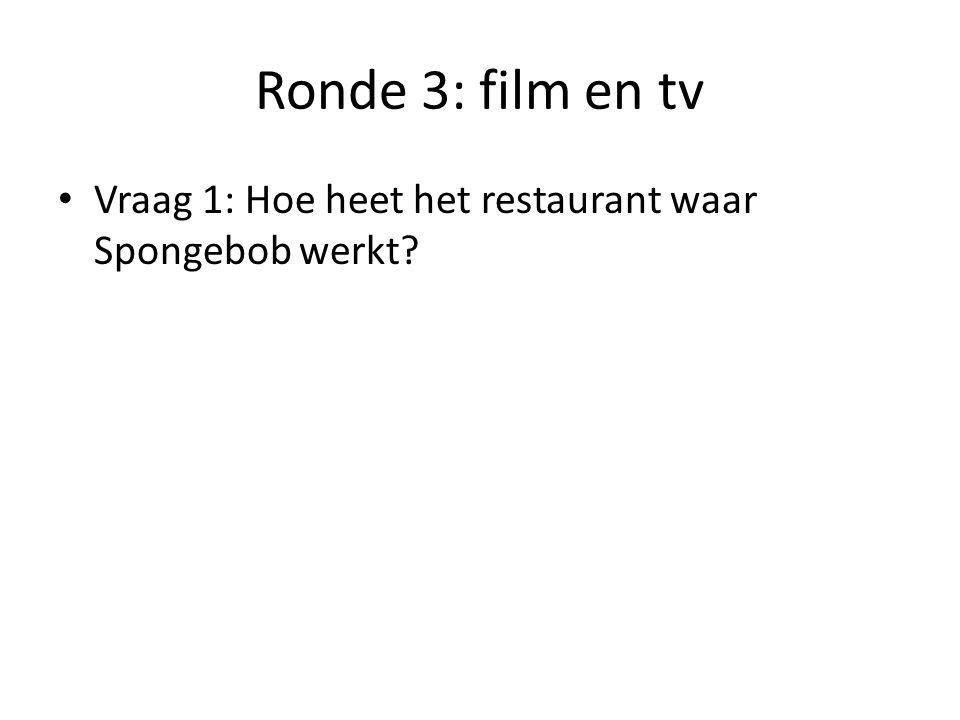 Ronde 3: film en tv Vraag 2: Hoe noem je een blunder die wordt gemaakt tijdens een tv-opname.