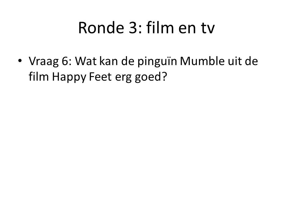 Ronde 3: film en tv Vraag 7: Hoe wordt een film genoemd met als doel de kijker te laten lachen?