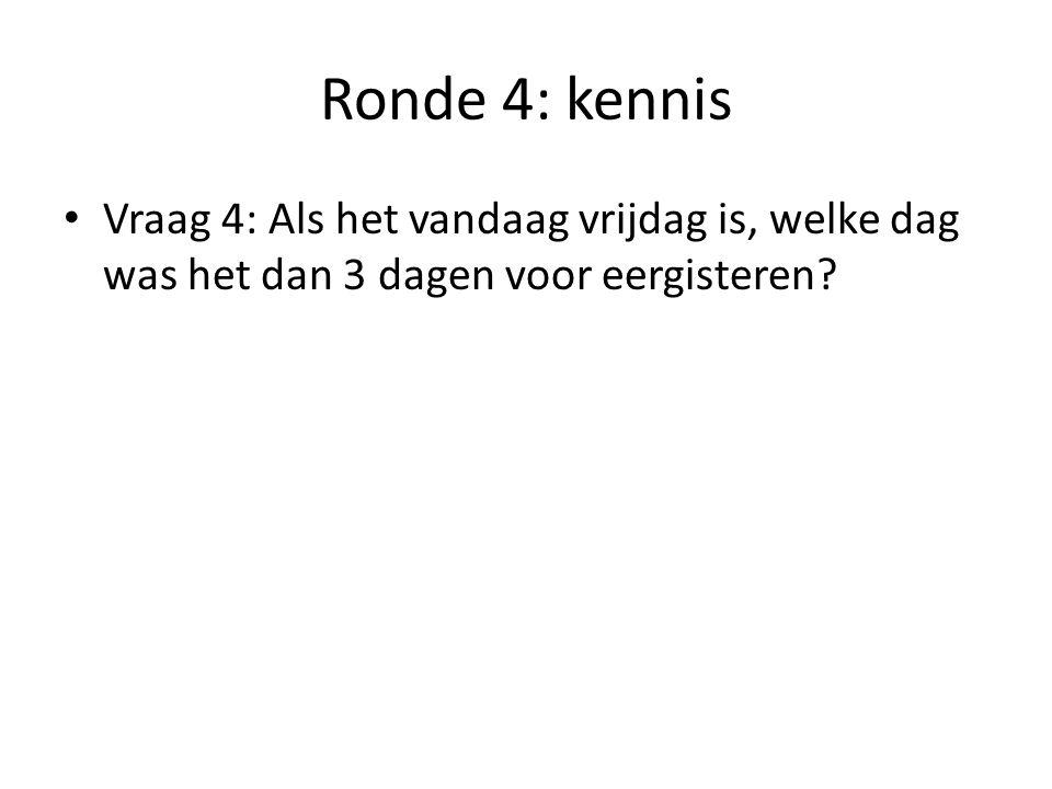 Ronde 4: kennis Vraag 5: Welke Belgen zijn het meest tevreden over hun stad.