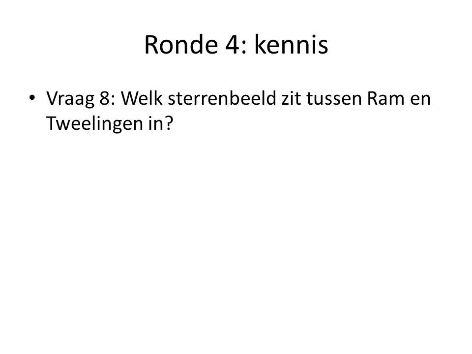 Ronde 4: kennis Vraag 9: Hoe wordt een fiets genoemd die is ontworpen om door minimaal 2 personen voortbewogen te worden?