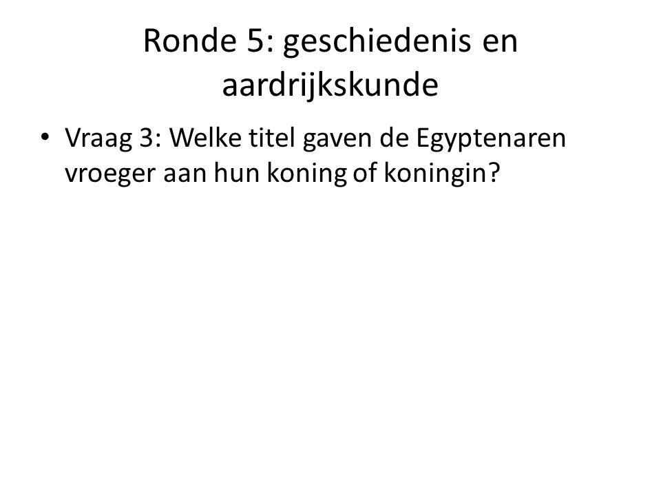 Ronde 5: geschiedenis en aardrijkskunde Vraag 4: Welke schilder sneed in 1888 een stuk van zijn oor af.