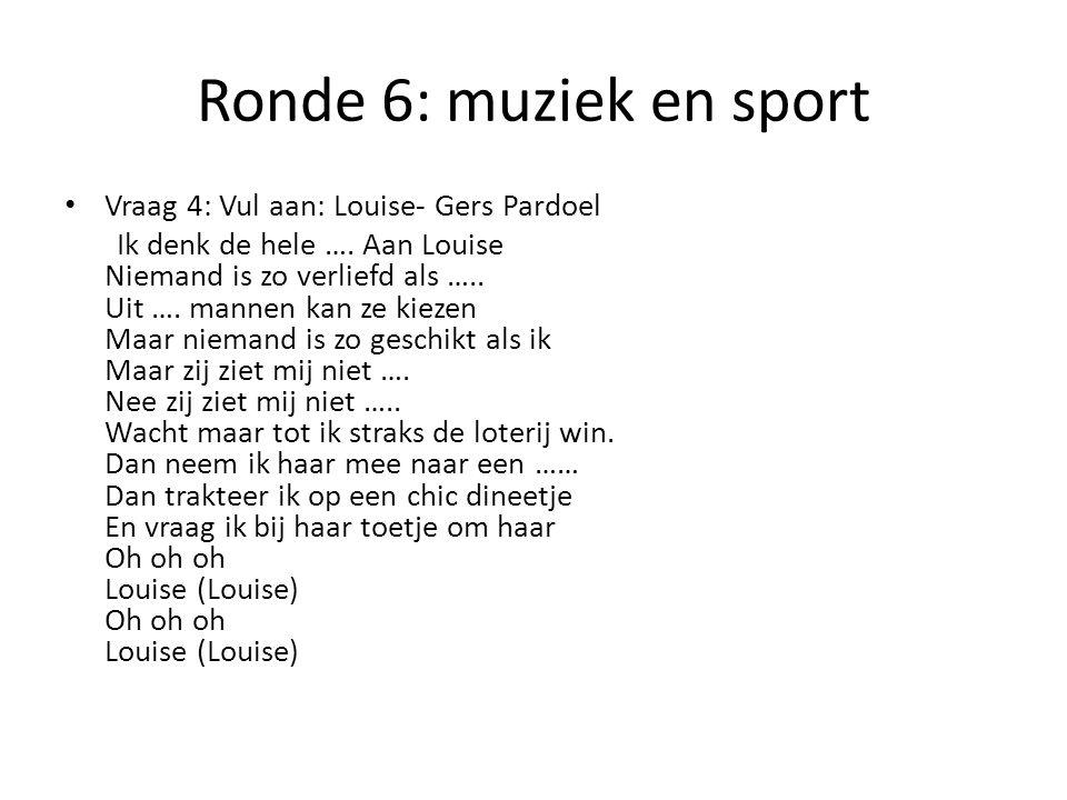 Ronde 6: muziek en sport Vraag 5: Deze Vlaamse zanger overleed in november. Wat is zijn naam?