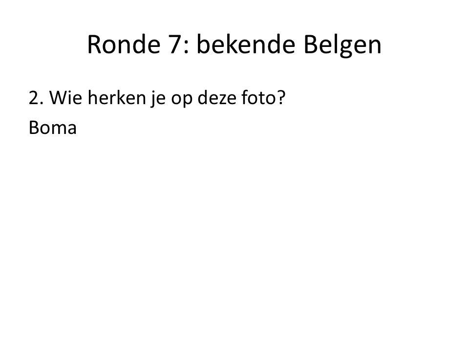 Ronde 7: bekende Belgen 3. Wie herken je op deze foto? Garfield