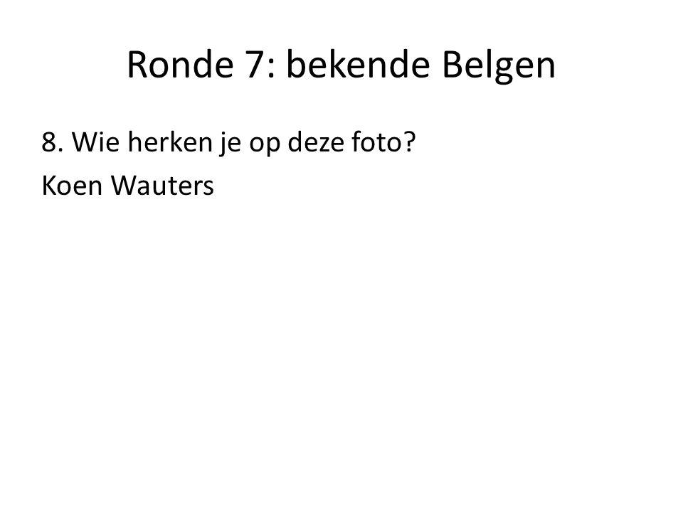 Ronde 7: bekende Belgen 9. Wie herken je op deze foto? Kim Clijsters