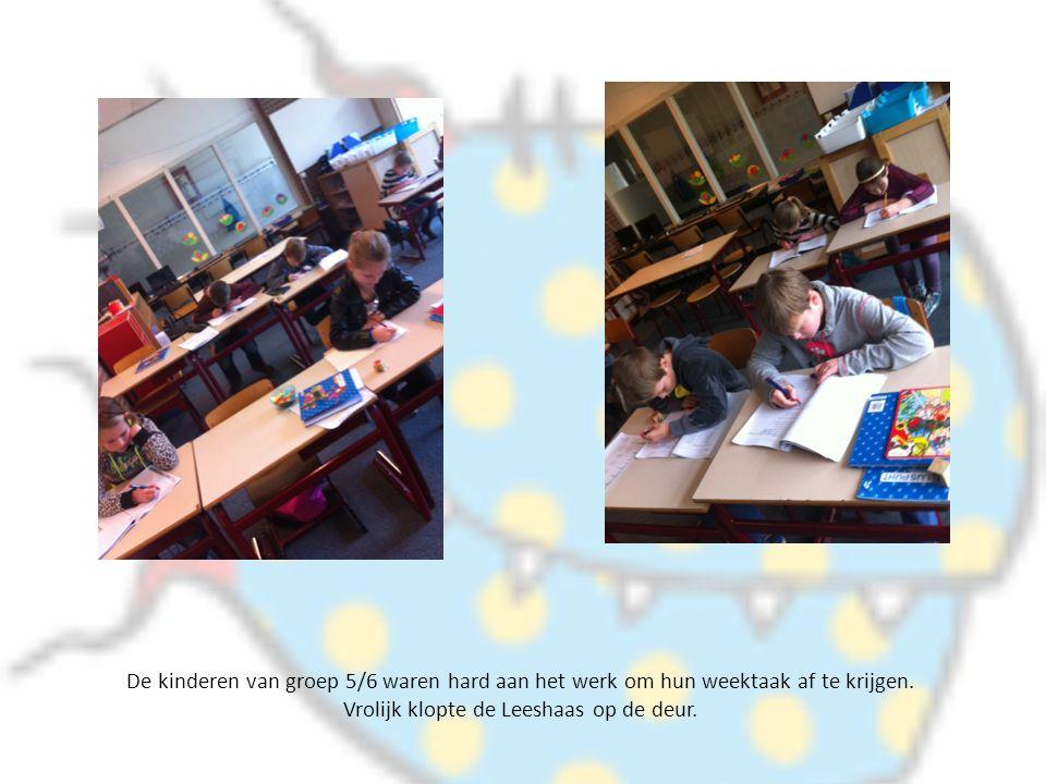 De kinderen van groep 5/6 waren hard aan het werk om hun weektaak af te krijgen.