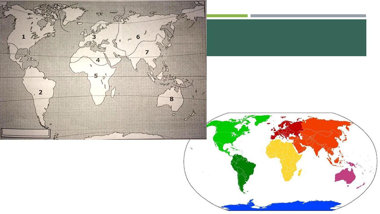  Wereldzone = Een indeling van de wereld op basis van fysische kenmerken (klimaat, reliëf,…) en menselijke kenmerken (taal, cultuur,…)