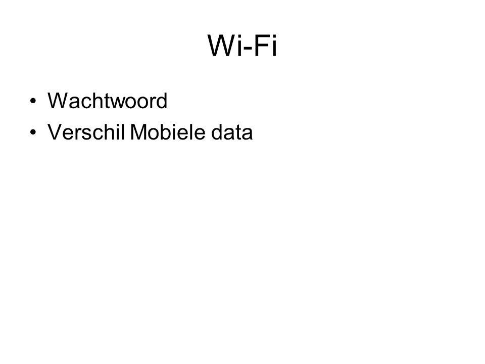 Wi-Fi Wachtwoord Verschil Mobiele data