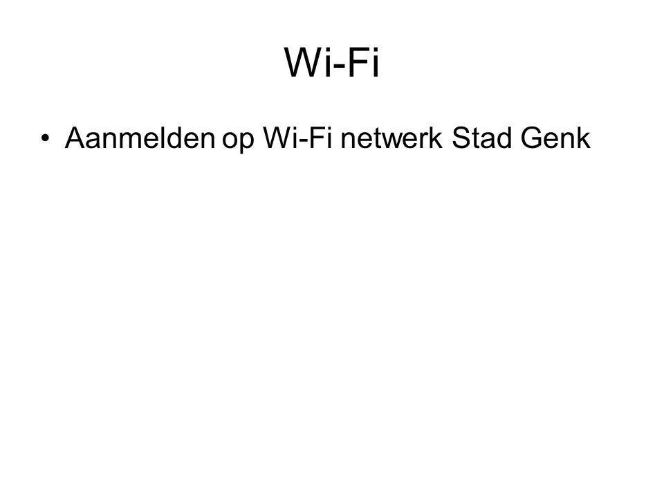 Aanmelden op Wi-Fi netwerk Stad Genk