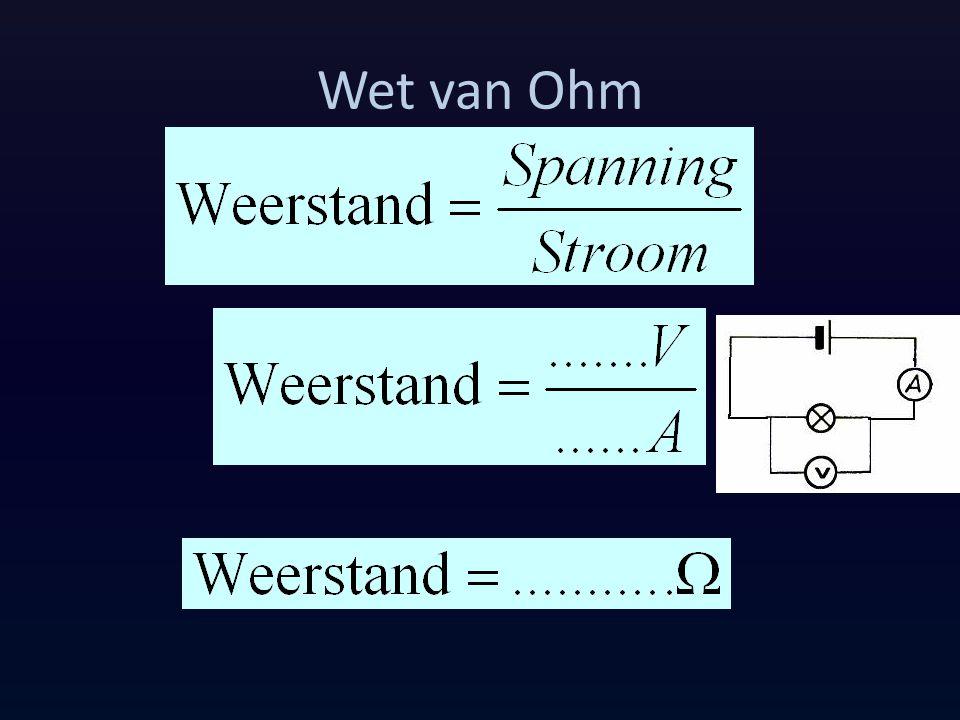 Wet van Ohm