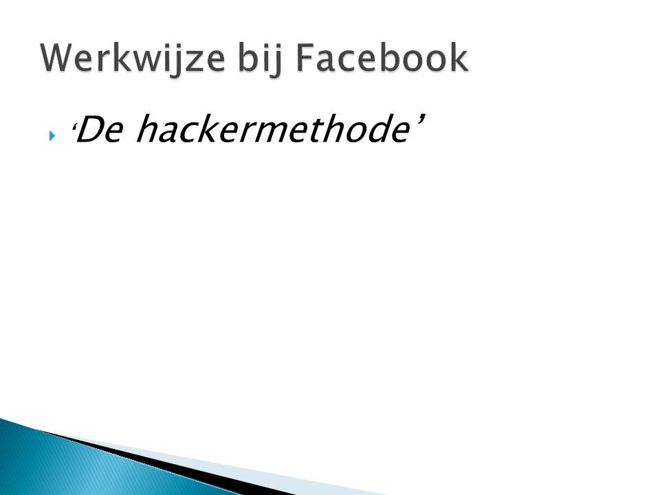  ' De hackermethode'
