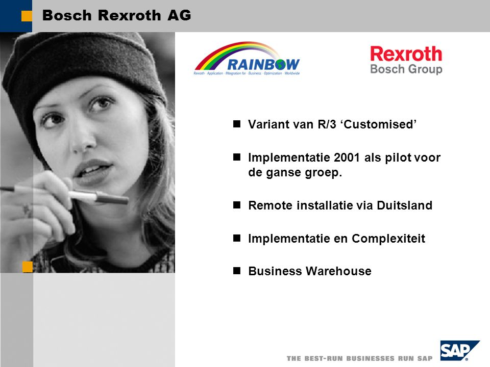 Bosch Rexroth R/3 Rainbow Layout