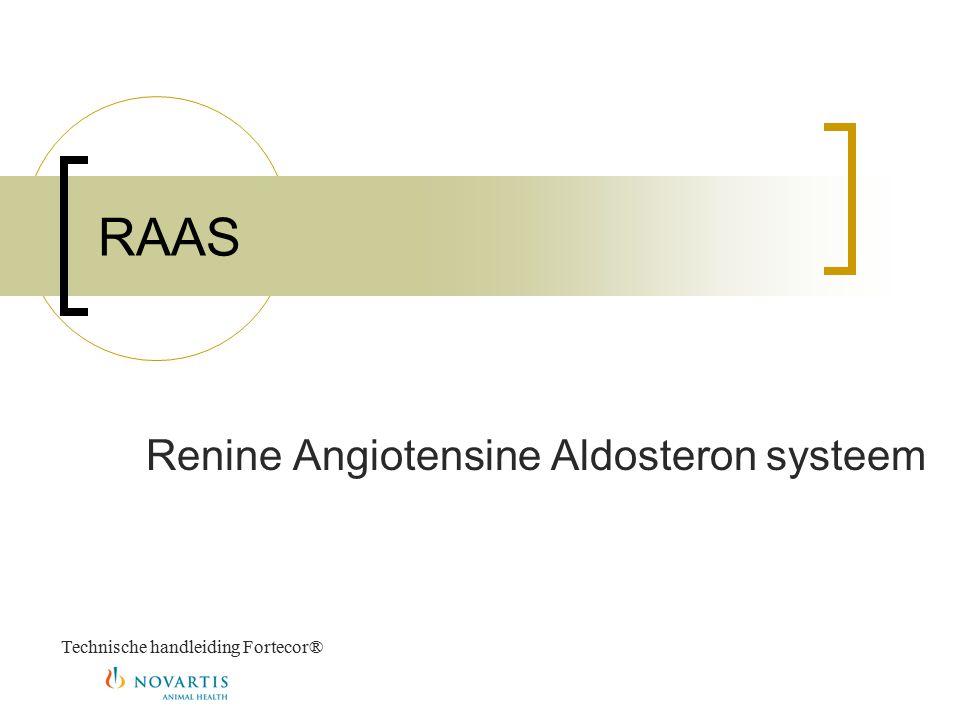 RAAS Renine Angiotensine Aldosteron systeem Technische handleiding Fortecor®