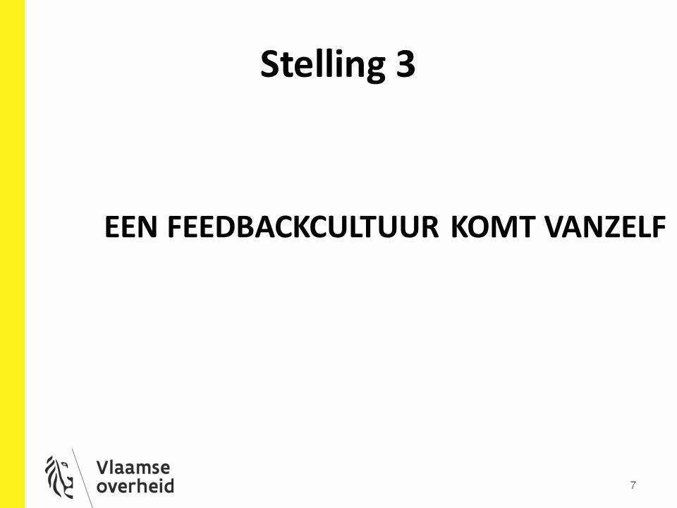 Stelling 3 7 EEN FEEDBACKCULTUUR KOMT VANZELF
