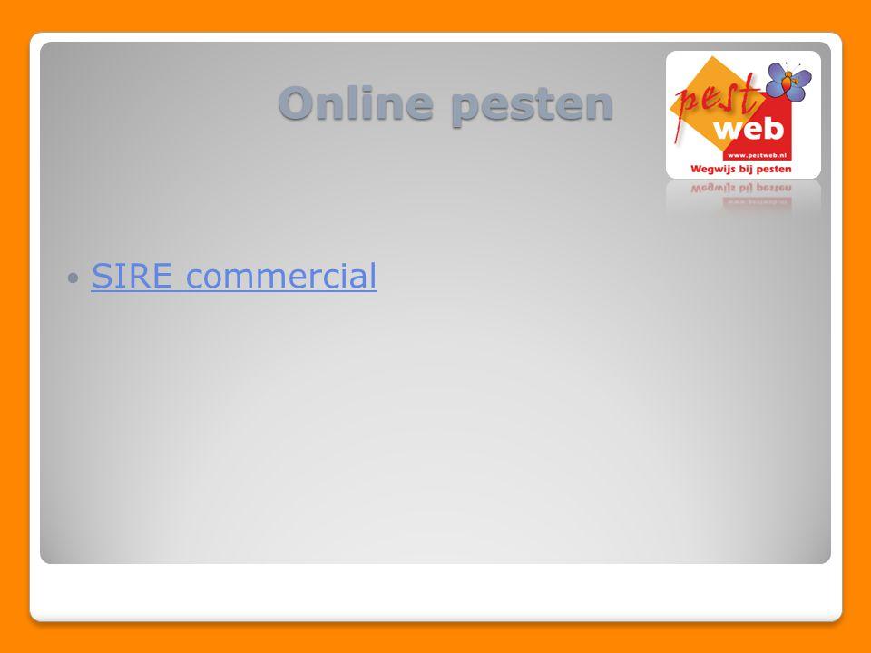 SIRE commercial Online pesten