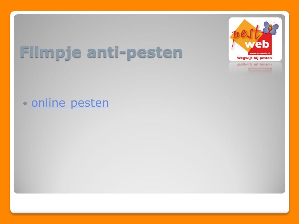 online pesten Filmpje anti-pesten