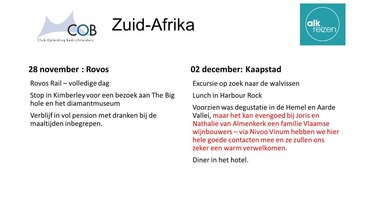 Zuid-Afrika 28 november : Rovos02 december: Kaapstad