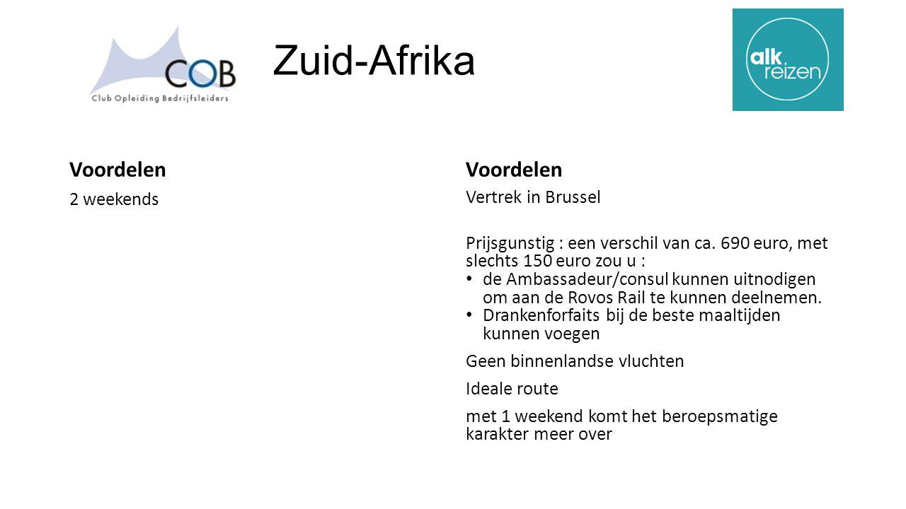 Zuid-Afrika Voordelen 2 weekends Voordelen Vertrek in Brussel Prijsgunstig : een verschil van ca.