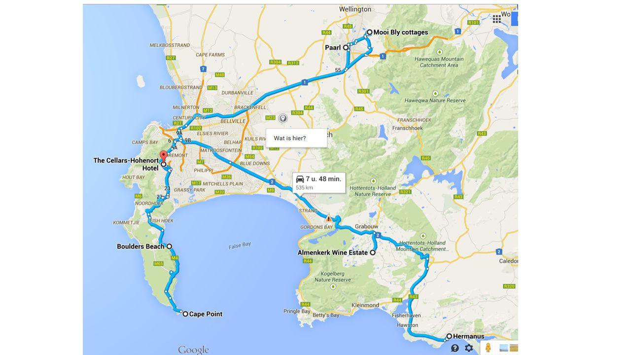 Zuid-Afrika 20 november : Brussel – Kaapstad 05u00 autocar Brussel – A'dam 08u00 aankomst en check in 10u05 vertrek naar CPT 22u35 aankomst en check in 24 november : Brussel – Johannesburg 15u00 verzamelen in Brussel 16u40 vertrek naar Johannesburg
