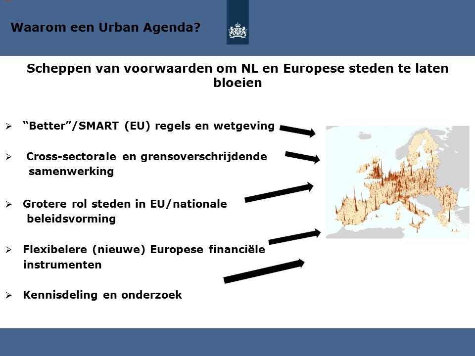 """ """"Better""""/SMART (EU) regels en wetgeving  Cross-sectorale en grensoverschrijdende samenwerking  Grotere rol steden in EU/nationale beleidsvorming """