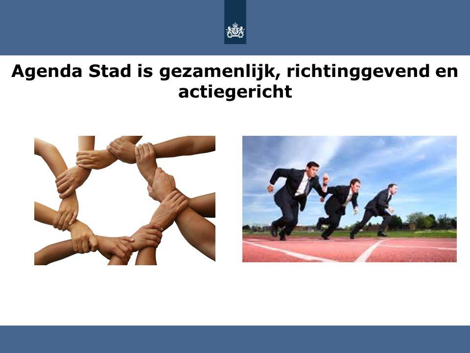 Agenda Stad is gezamenlijk, richtinggevend en actiegericht