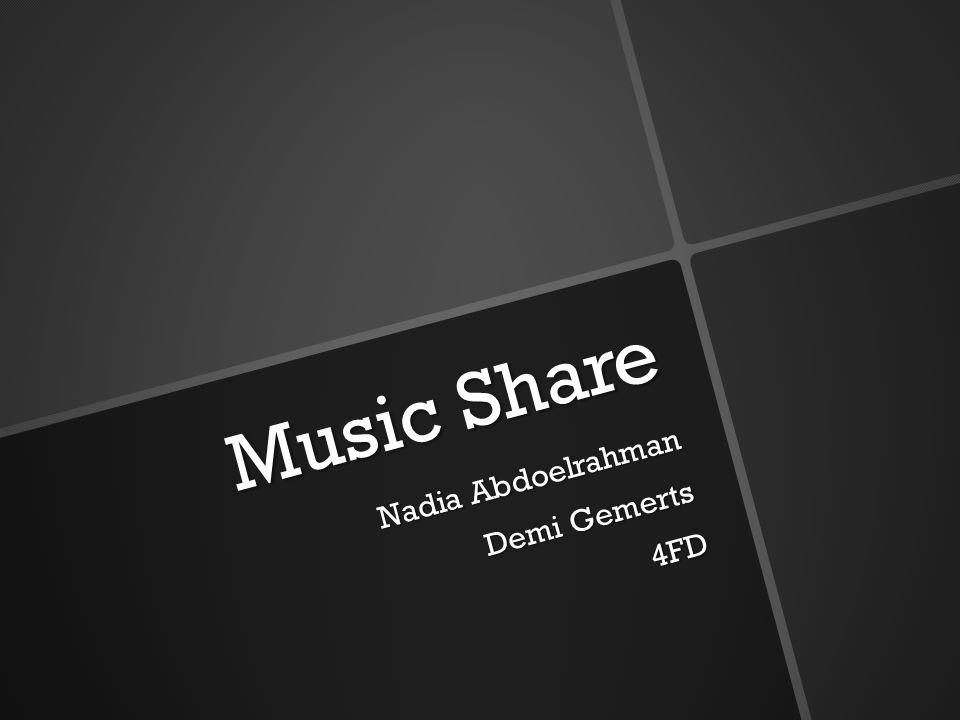 Music Share Nadia Abdoelrahman Demi Gemerts 4FD