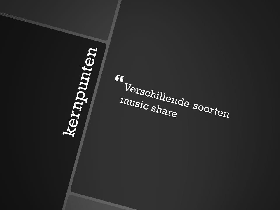 kernpunten  Verschillende soorten music share