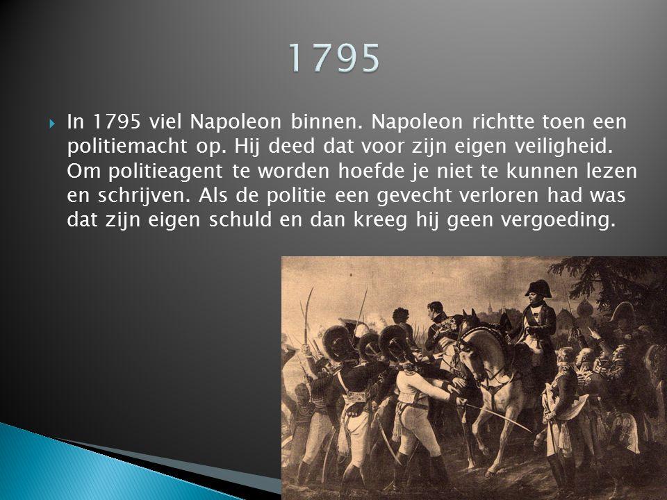  In de 19 e eeuw kwam pas de echte politie: korps marechaussee.