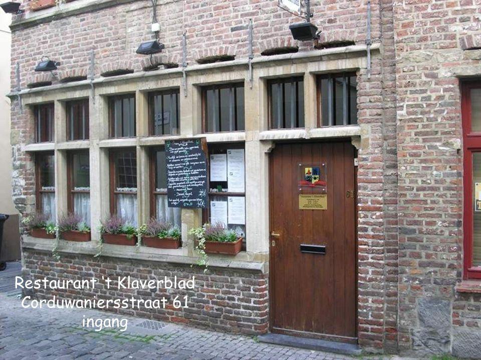 Restaurant 't Klaverblad (Patershol) & Het tweede huis Ernaast is Café Klokhuys