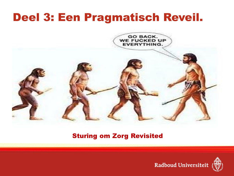 Deel 3: Een Pragmatisch Reveil. ……. Sturing om Zorg Revisited