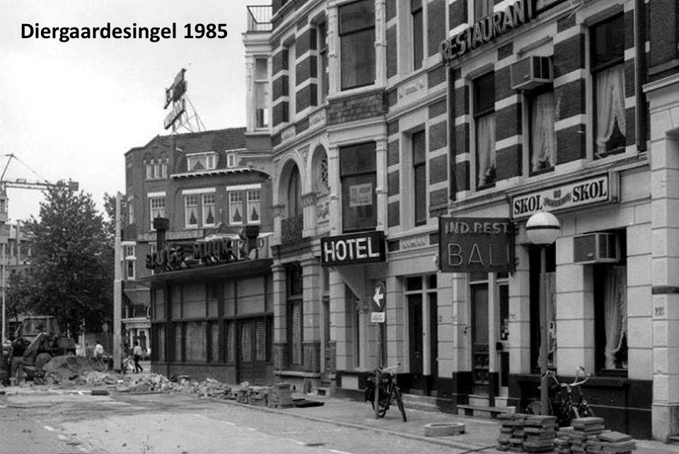 De bouw van de Meentbrug over de Delftsevaart in verband met de verlenging van de Meent, 1928