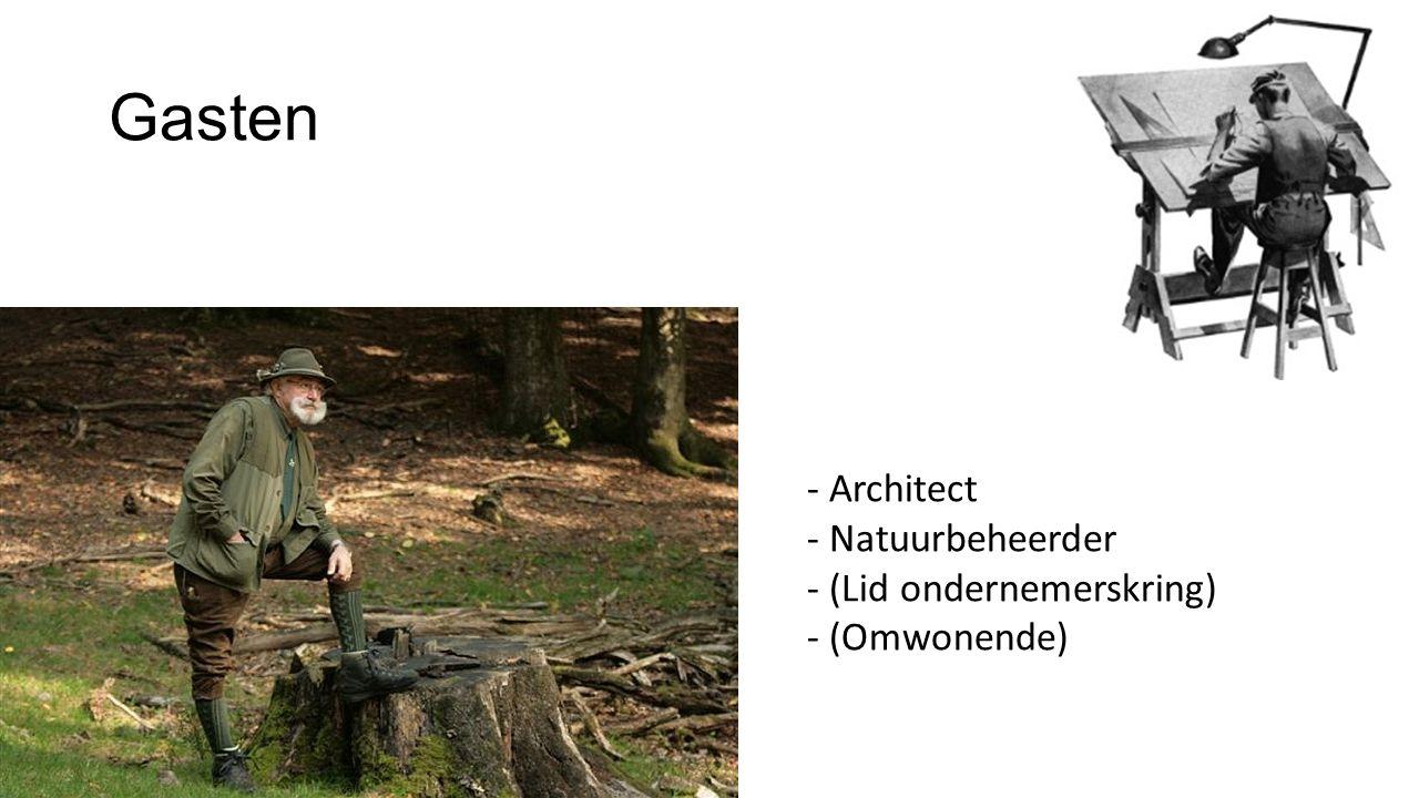 Gasten - Architect - Natuurbeheerder - (Lid ondernemerskring) - (Omwonende)