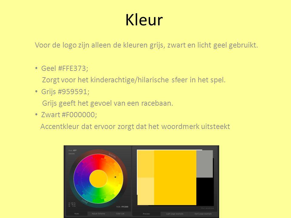 Kleur Voor de logo zijn alleen de kleuren grijs, zwart en licht geel gebruikt.