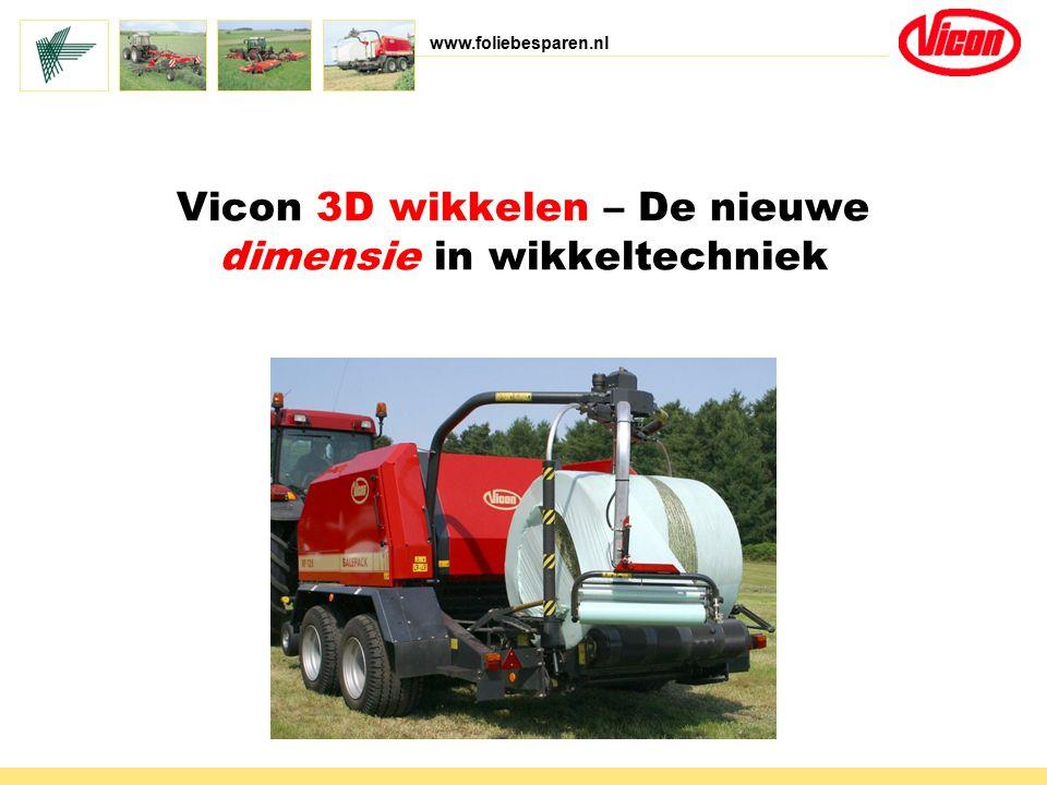 www.foliebesparen.nl Vicon 3D wikkelen – De nieuwe dimensie in wikkeltechniek